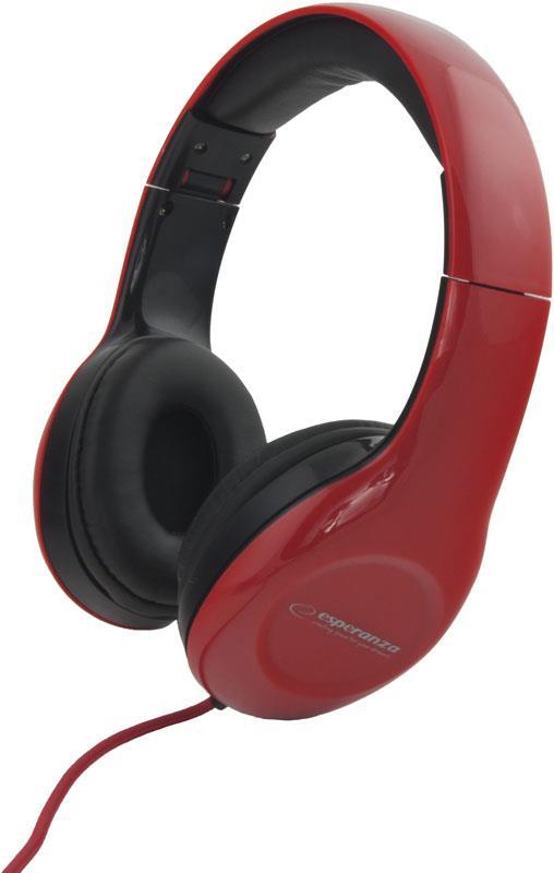 ESPERANZA Audio Stereo Headphones with volume control EH138R | 3m austiņas