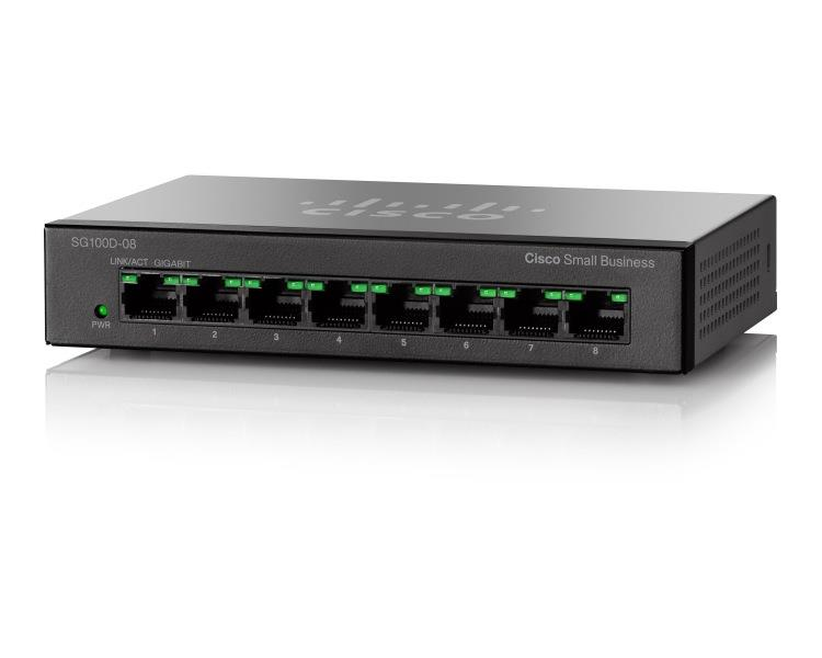 Cisco SG110D-08 8-Port Gigabit Desktop Switch komutators