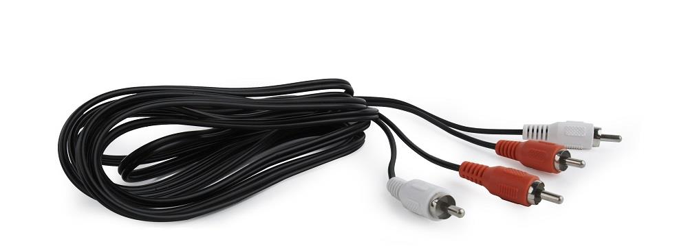 CABLE AUDIO 2RCA-2RCA 1.8M/CCA-2R2R-6 GEMBIRD kabelis, vads