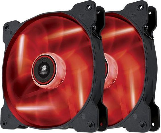 Corsair SP140 High Static Pressure 140 mm 3 pin red LED dual pack ventilators