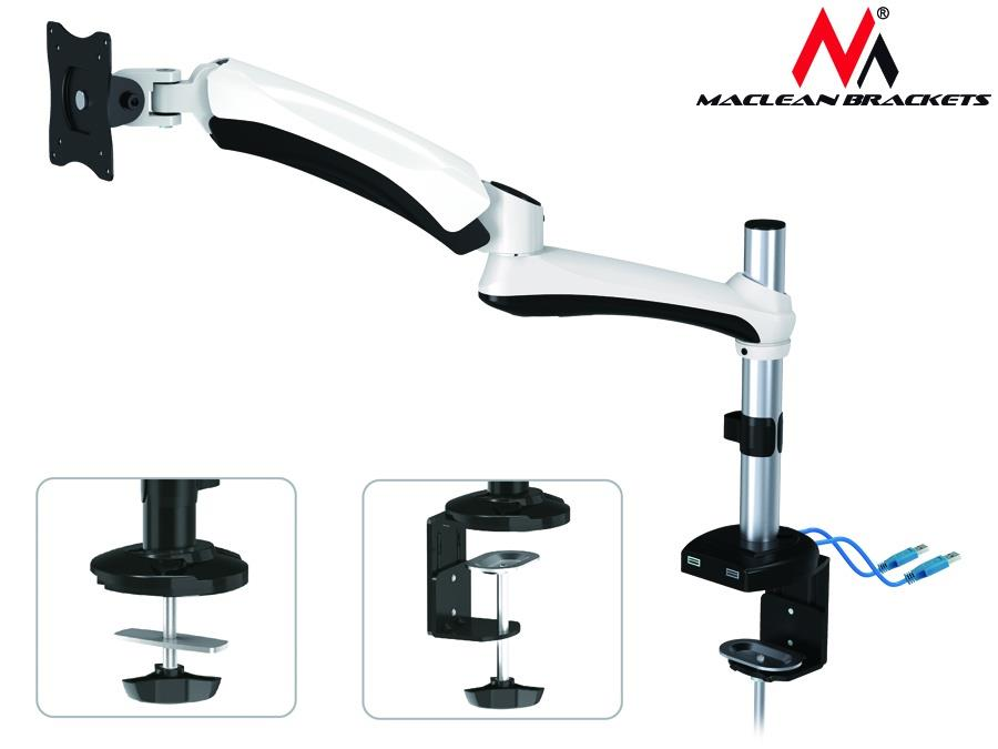 Monitor holder MC-669W   Maclean white TV stiprinājums