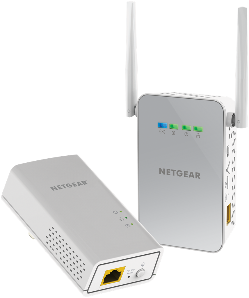 Netgear Powerline 1000Mbps AC650 1PT GbE Adapters Bundel + WiFi (PLW1000) POWERLINE adapteri