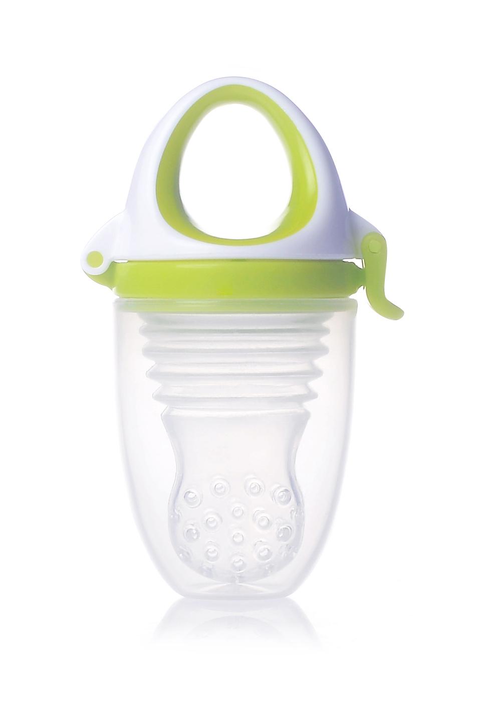 Akcija! Kidsme Food Feeder Plus bērna ēdināšanas ierīce no 6 mēn, Lime 160361LI 6474 aksesuāri bērniem