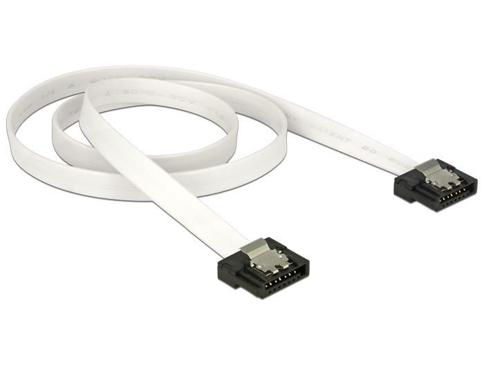 Delock Cable SATA FLEXI 6 Gb/s 50 cm white metal kabelis datoram