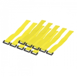 LOGILINK - Cable Tie with velco, yellow