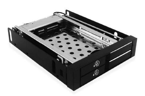 Icy Box Mobile Rack for 2x 2.5'' SATA HDD or SSD, Black piederumi cietajiem diskiem HDD