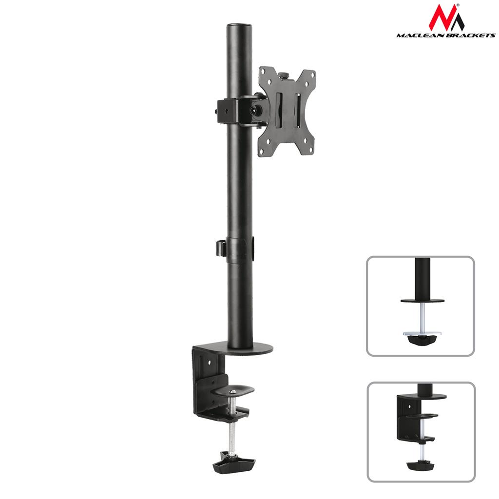 Maclean MC-751 monitor desk bracket 13-32'' 8kg vesa 75x75, 100x100