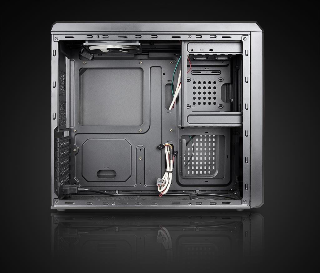 Chieftec case UNI series UC-02B, 350W (GPA-350S8) Datora korpuss