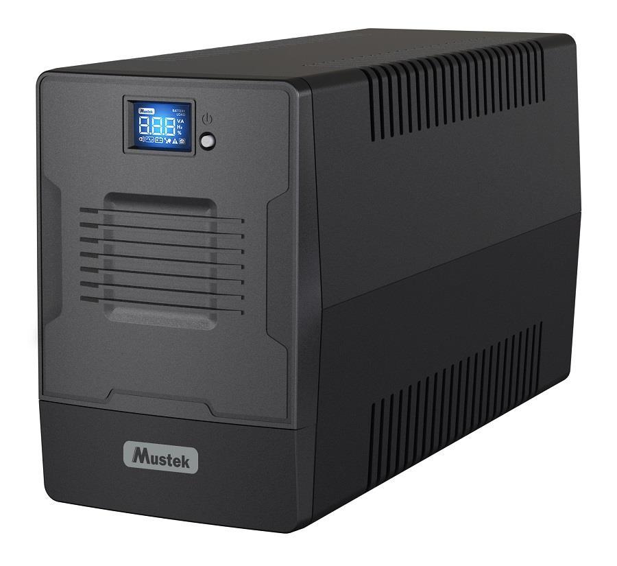 UPS | MUSTEK | 600 Watts | 1000 VA | Wave form type Simulated sinewave | LineInteractive | Desktop/pedestal | 1000-LCD-LI-T30 nepārtrauktas barošanas avots UPS