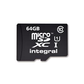 Integral micro SDHC/XC Cards CL10 64GB - Ultima Pro - UHS-1 90 MB/s transfer atmiņas karte