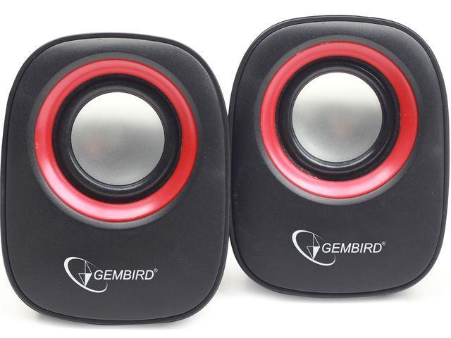 Gembird stereo speaker SPK-107A, black/red datoru skaļruņi