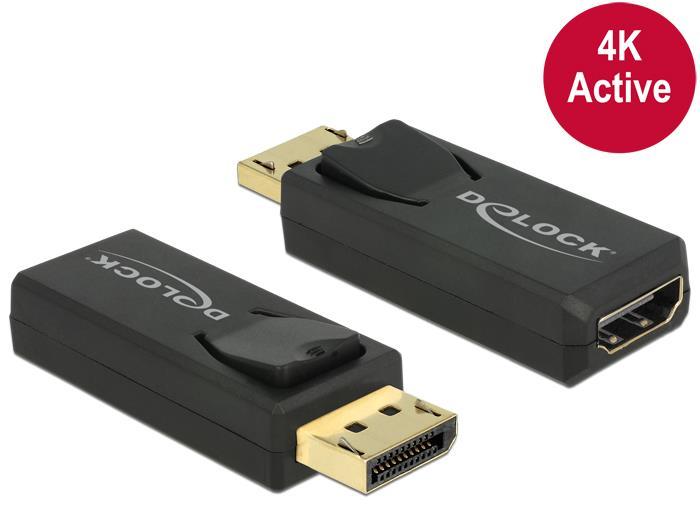 Delock Adapter Displayport 1.2 male > HDMI female 4K Active black karte