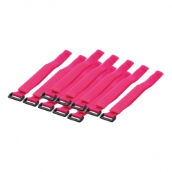 LOGILINK - Cable Tie with velco, pink