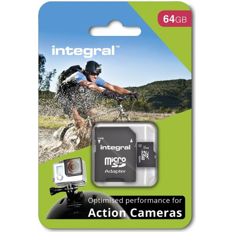 Integral micro SDHC/SDXC for Action Camera Card (tested with GoPro), 64GB atmiņas karte
