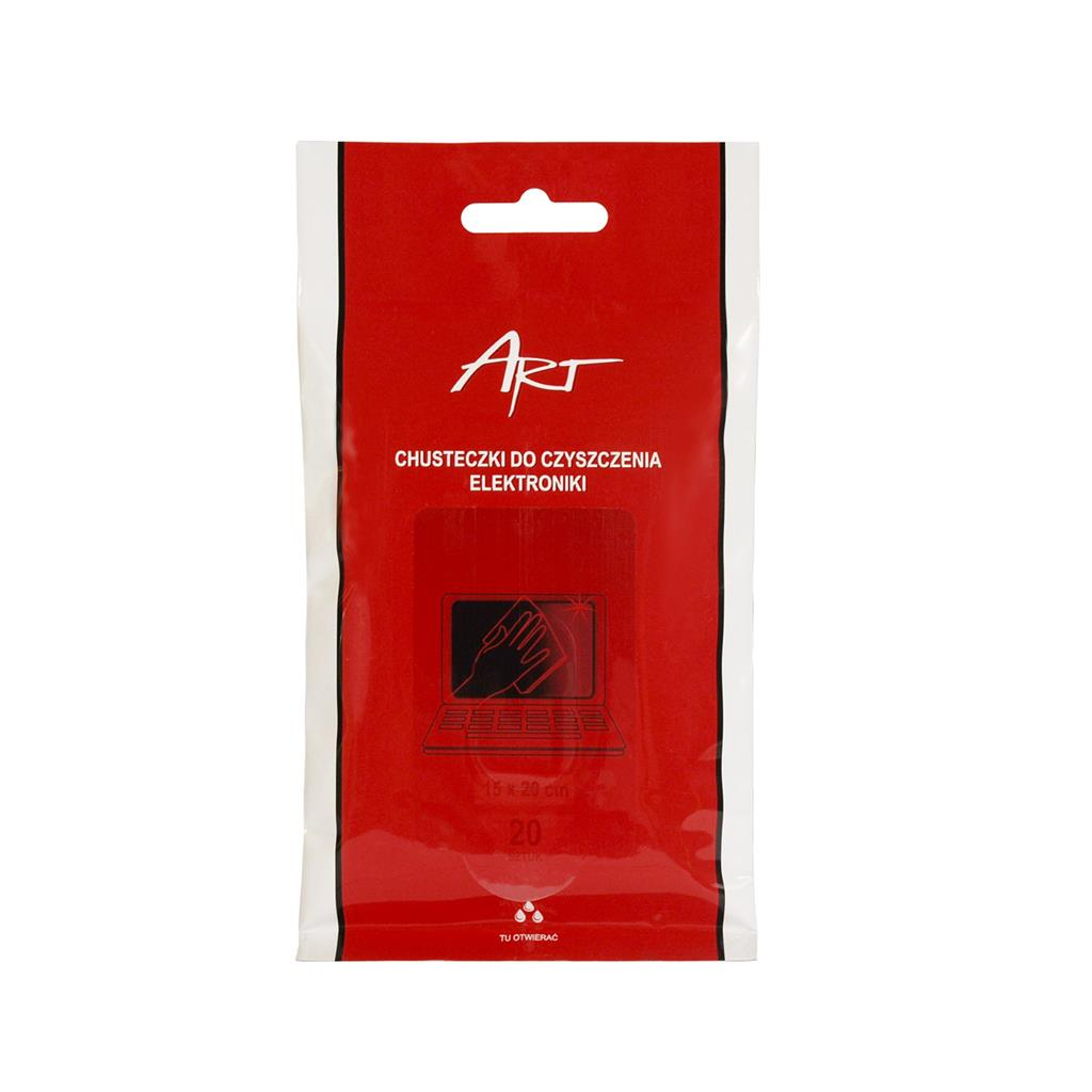 ART wet cleaner wipes for electronics (20 pcs. in the bundle) tīrīšanas līdzeklis