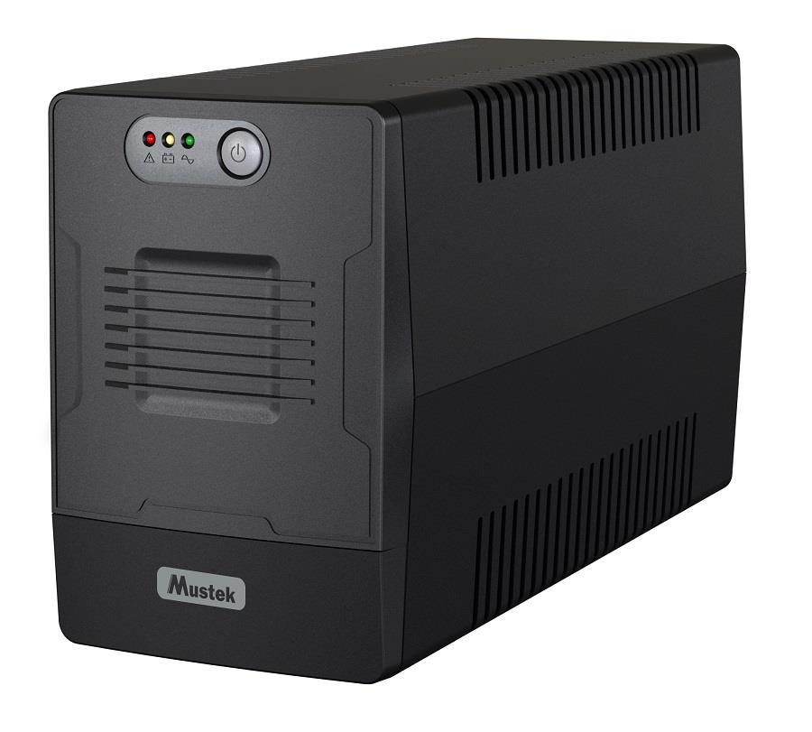 UPS | MUSTEK | 1200 Watts | 2000 VA | Wave form type Simulated sinewave | LineInteractive | Desktop/pedestal | 2000-LED-LI-T10 nepārtrauktas barošanas avots UPS