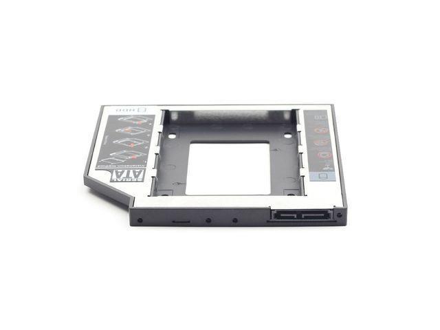 Gembird Slim Mounting frame for SATA 2,5'' drive to 5.25'' bay, 12mm piederumi cietajiem diskiem HDD
