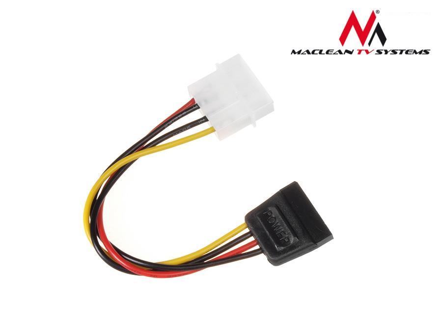 Maclean MCTV-633 Power Converter Cable Adapter Molex SATA kabelis datoram