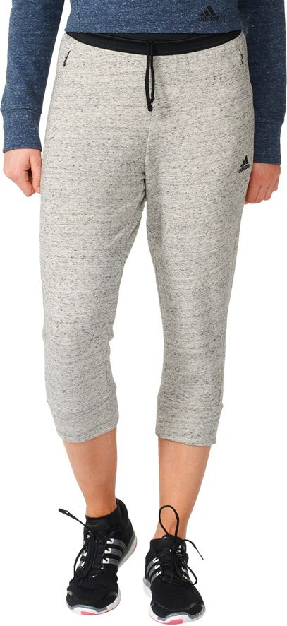Adidas Spodnie Cotton Fleece 3/4 Pant szare r. S (S93962) S93962