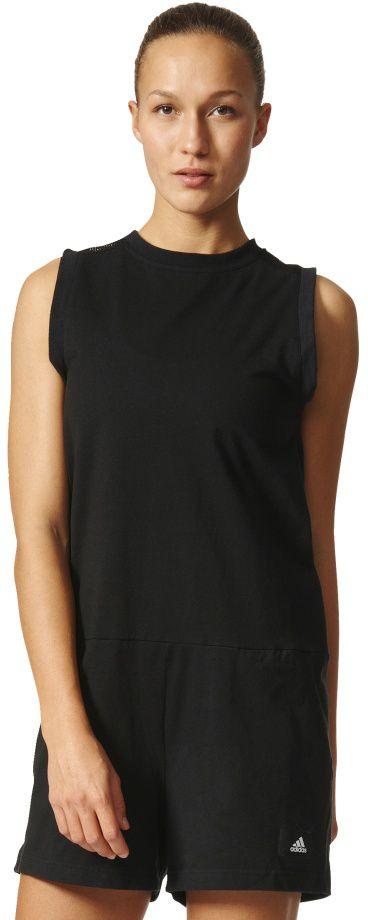 Adidas Kombinezon damski Grandmoment Jumpsuit czarny r. XXS (BQ1643) BQ1643 Bikškostīmi Sievietēm