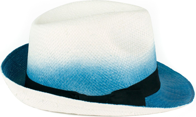 Art of Polo Kapelusz Shadow niebieski-bialy cz14116-3