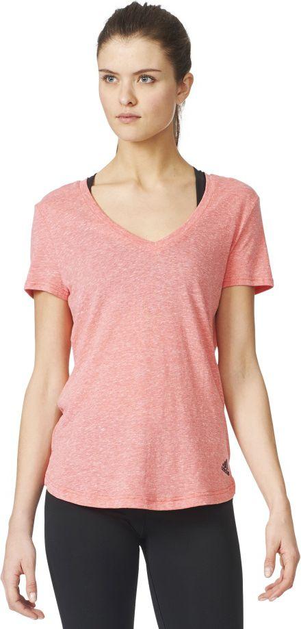 Adidas Koszulka damska Logo V-Tee rozowa r. S (AZ3062) AZ3062