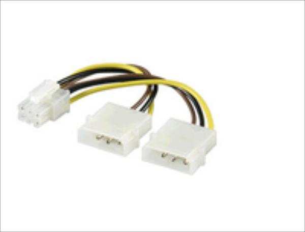 MicroConnect 4 pin to 6 pin PCI Express  PI1919 kabelis datoram