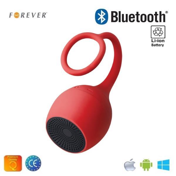 Forever BS-310 Mitruma izturīgs Bluetooth Super Flex Silikona Skaļrunis Sarkans pārnēsājamais skaļrunis