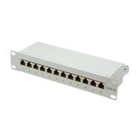 LOGILINK-  Patch Panel 10''-mounting Cat.6A STP 12 ports, grey datortīklu aksesuārs