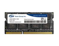 Team Group DDR3 4GB 1333MHz CL9 SODIMM 1.5V operatīvā atmiņa