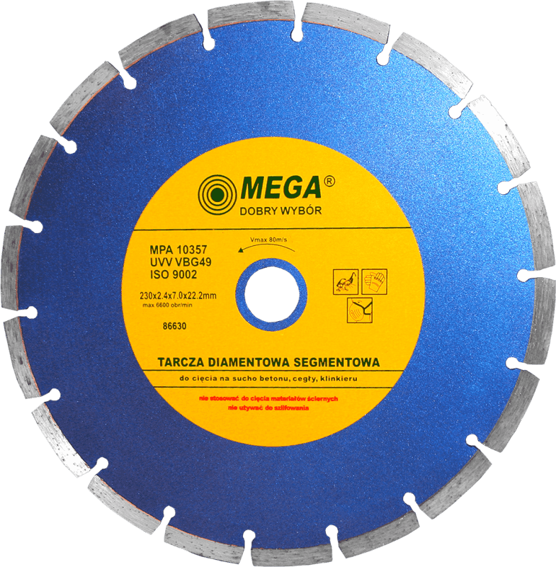 Mega Dimanta disks BSG 230x22mm betonam