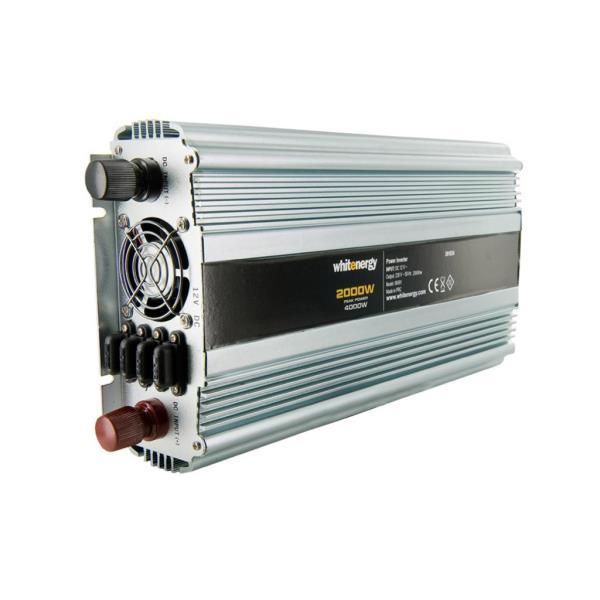 Whitenergy Power Inverter DC/AC from 12V DC to 230V AC 2000W, 2 AC receptacle Strāvas pārveidotājs, Power Inverter