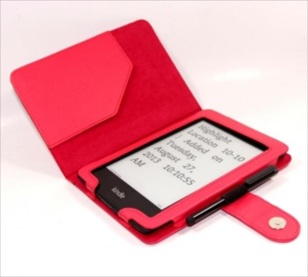 C-TECH PROTECT Case for Kindle PAPERWHITE with WAKE/SLEEP function, red Elektroniskais grāmatu lasītājs