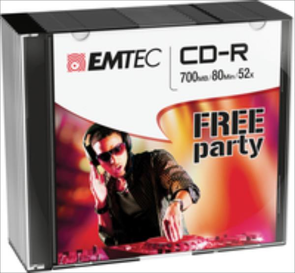 Emtec disc  CD-R  |700MB| 52X | 80 MIN| slim 10-pak| matricas
