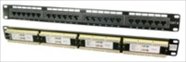 LOGILINK - Patch panel UTP CAT6 24-ports black datortīklu aksesuārs