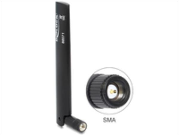 Delock  LTE Antenna SMA -0,8 3,0 dBi Omni Black