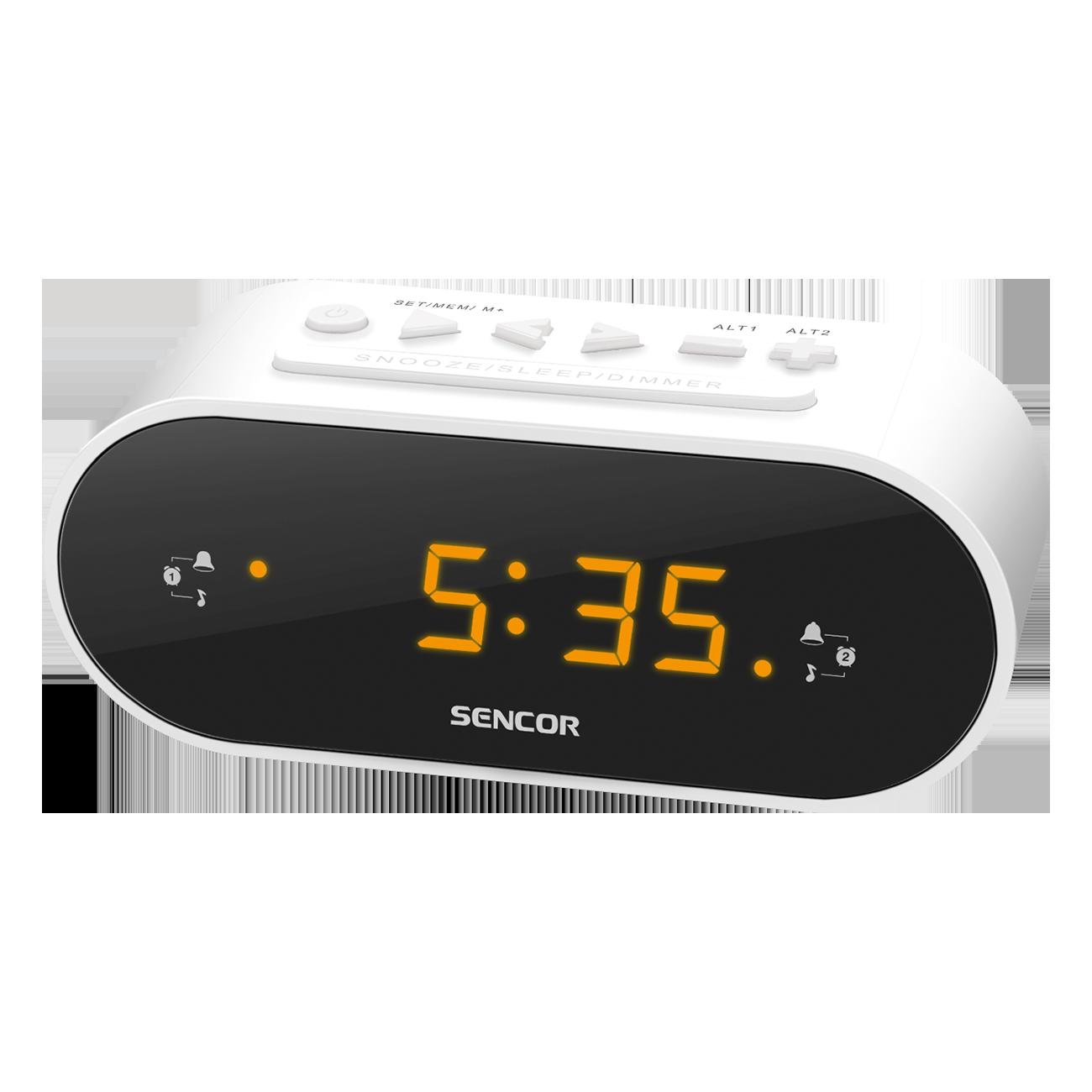 Radio Alarm Clock SENCOR SRC 1100 W radio, radiopulksteņi
