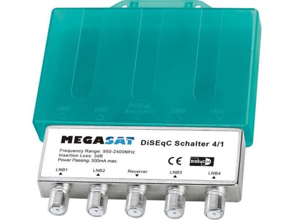 Megasat DiSEqC Schalter 4/1 Wetterschutz Satelītu piederumi un aksesuāri