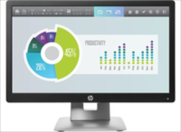 Monitor HP EliteDisplay E202 LED 20  HD+ IPS M1F41AA black monitors