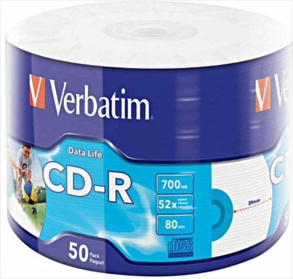 Verbatim CD-R 52x 700MB 50P SP Printable Extra Protection 43794 matricas