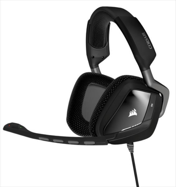 Corsair VOID gaming headset 7.1, USB, RGB Lighting, CUE Control - Black austiņas