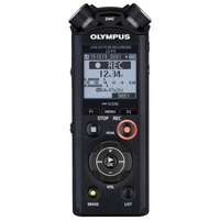 Olympus LS-P2 Rechargable batteries, LED, 39.6 x 14.4 x 108.9 mm, Microphone connection, MP3 playback diktafons