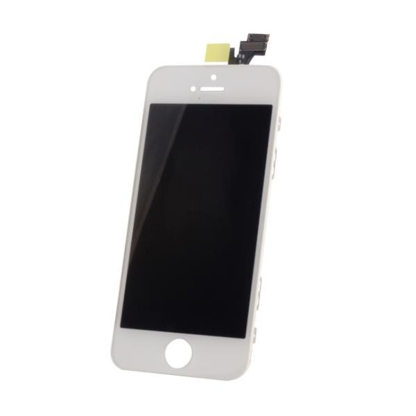 TF1 Analogs LCD Displejs + Skarienjūtīgais ekrāna elements priekš iPhone 5 Pilns modulis Balts aksesuārs mobilajiem telefoniem