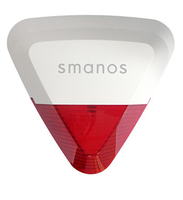 Smanos SS2800 White/Red, Outdoor Strobe Siren, Crime deterrent