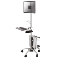 TV SET ACC FLOOR STAND SILVER/10-27