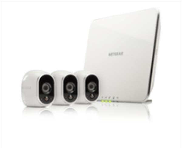 ARLO 3 x HD Camera WiFi + Smart Home Base Day/Night In/0utdoor (VMS3330) novērošanas kamera