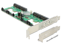 PCI Expr Card Delock 4x mSATA slots int +LowProfile karte