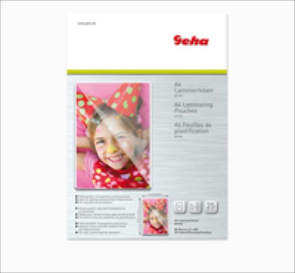 Laminierfolie GEHA     A4 25er Pack 80 Mic laminators
