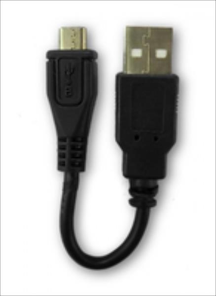 Qoltec USB adapter A male | Micro USB B male | 0.1m