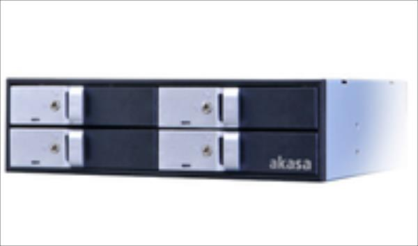 AKASA 4bay 2.5 mobile    rack SSD/HDD AK-IEN-02 cietā diska korpuss